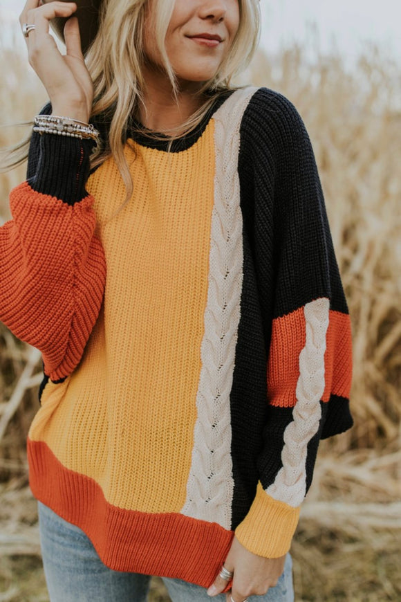 Crazy For You Colorblock Sweater | ROOLEE