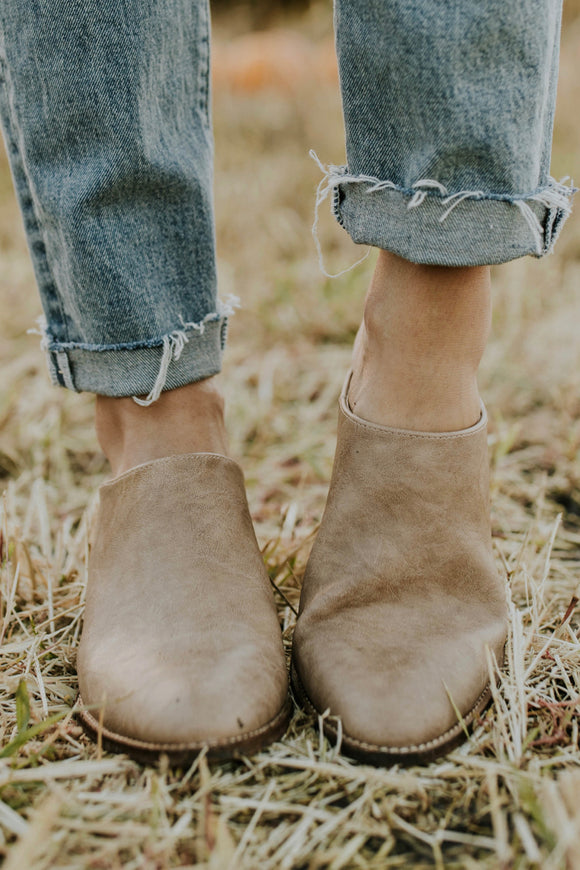 Taupe Platform Mule Outfit Ideas | ROOLEE