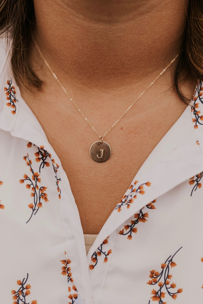 Letter Initial Necklace | ROOLEE
