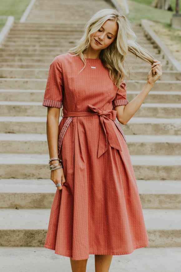 Clarissa Stitched Dress | ROOLEE
