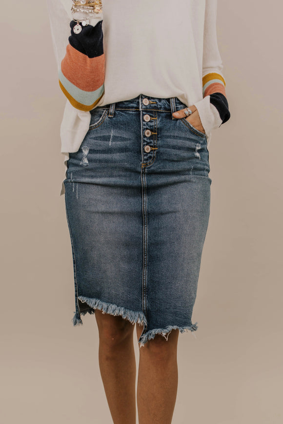 Total Eclipse Denim Skirt