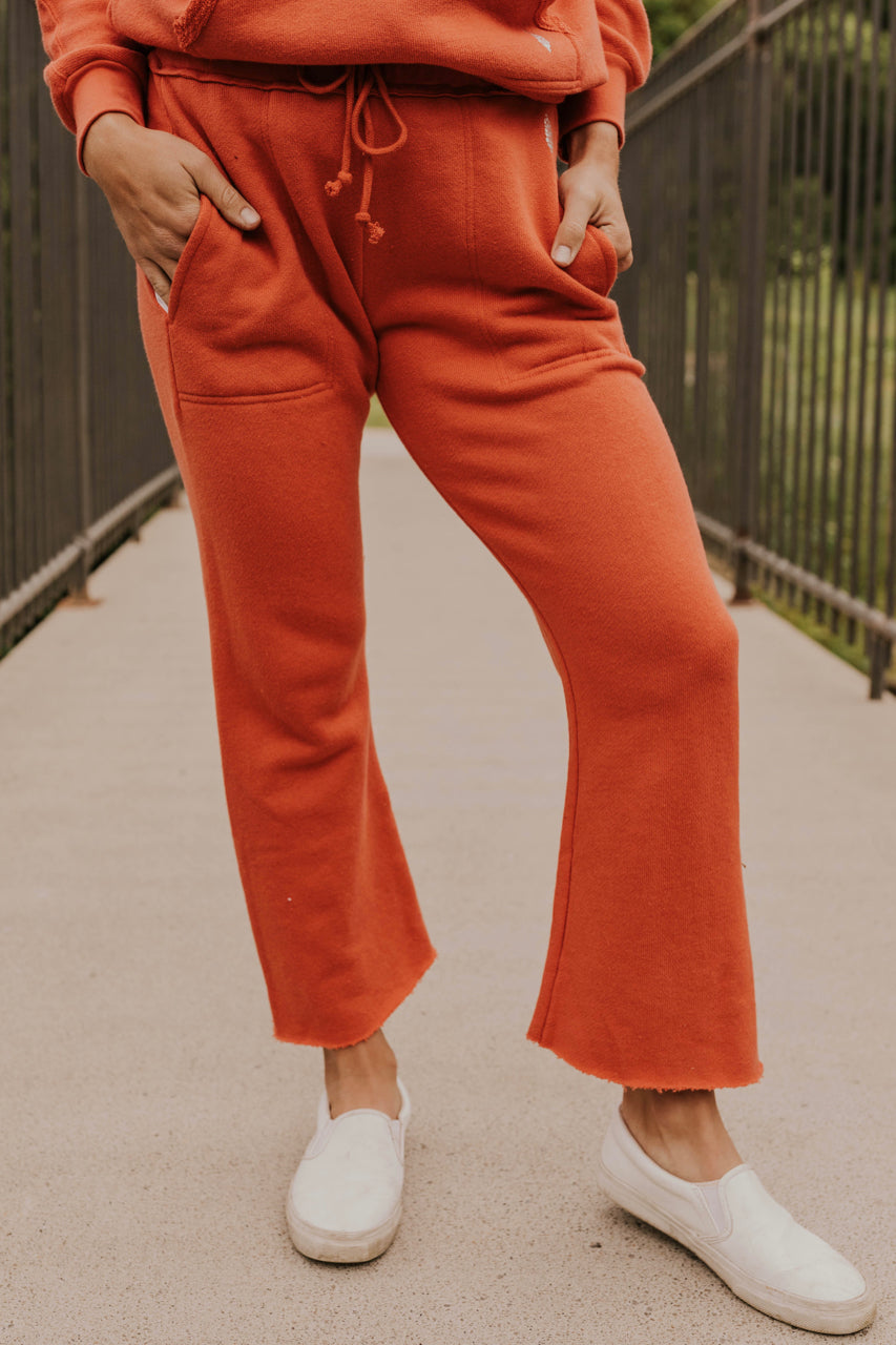 Red Activewear Sweatpants | ROOLEE