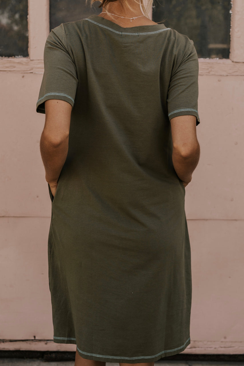 Olive Shirt Dress | ROOLEE