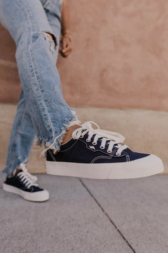 Navy Lace Up Keds | ROOLEE