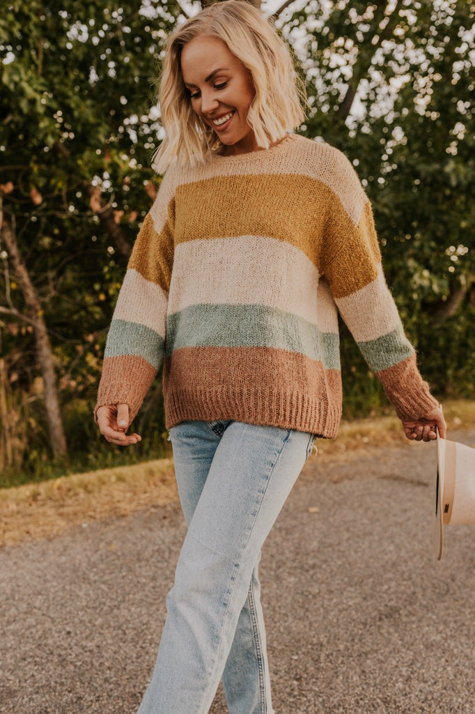 Fall Stripe Sweater | ROOLEE