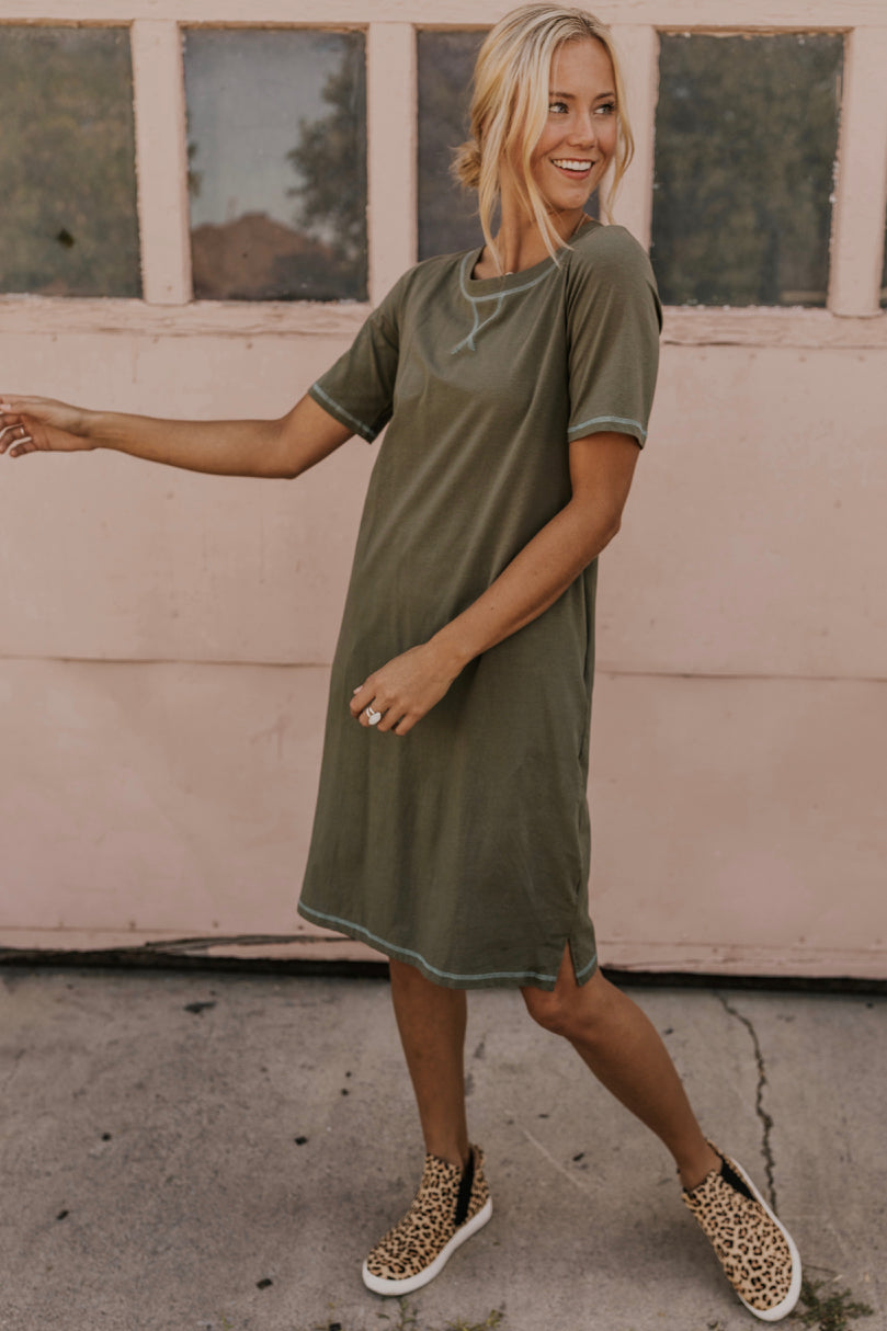 Casual Olive Dress | ROOLEE