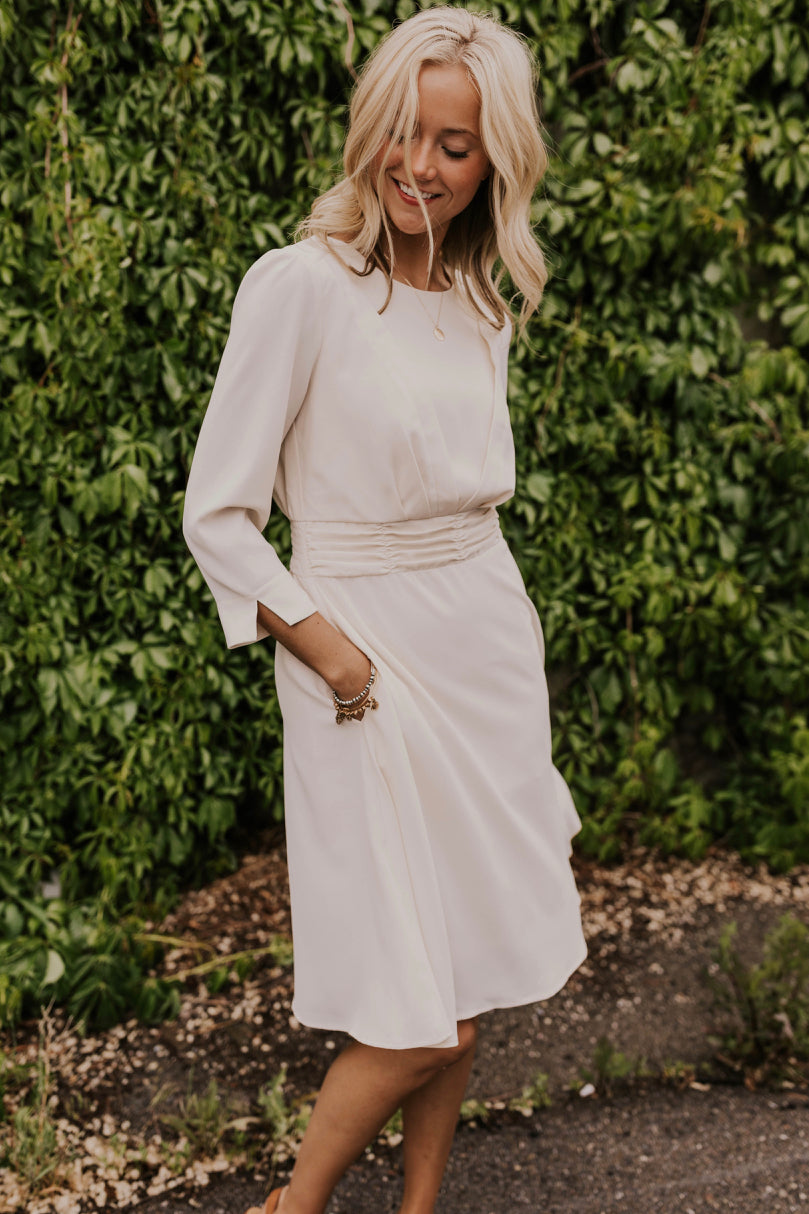 Off-White Modest Summer Dress | ROOLEE