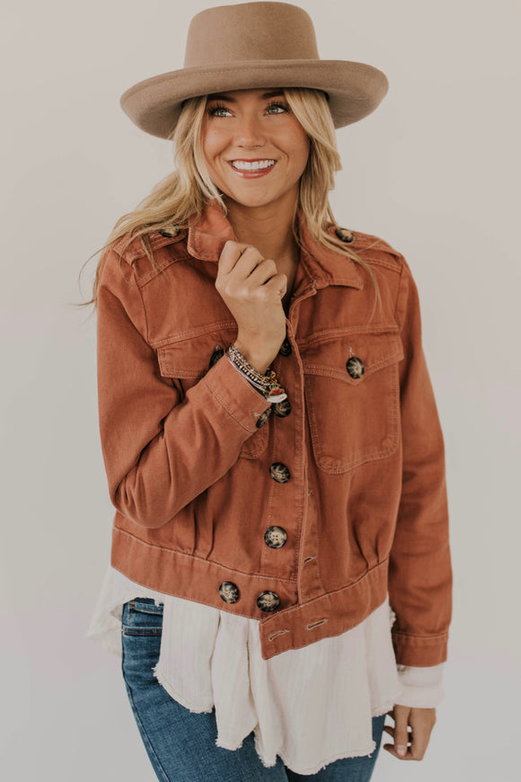 Free People Terra Cotta Jacket | ROOLEE