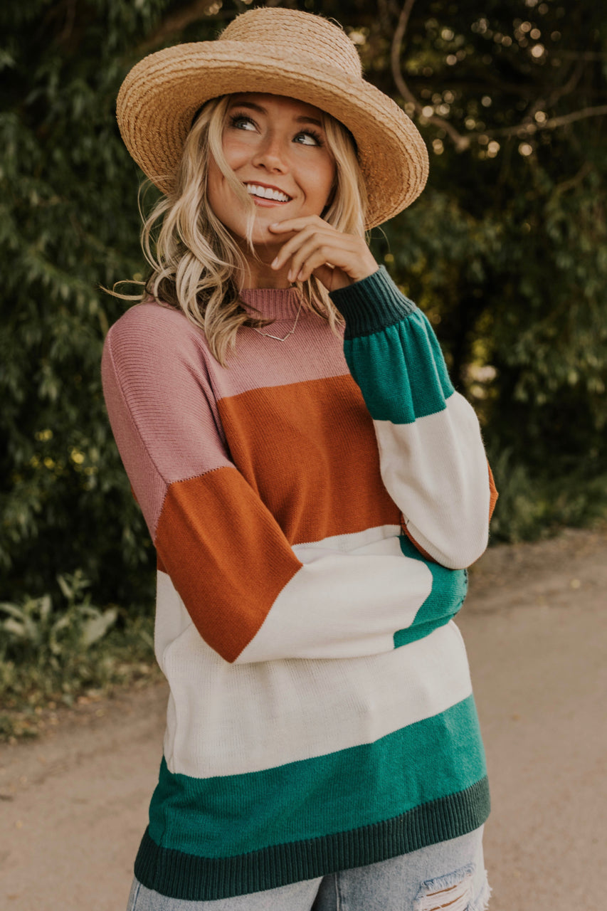 Color Block Sweater for Women | ROOLEE
