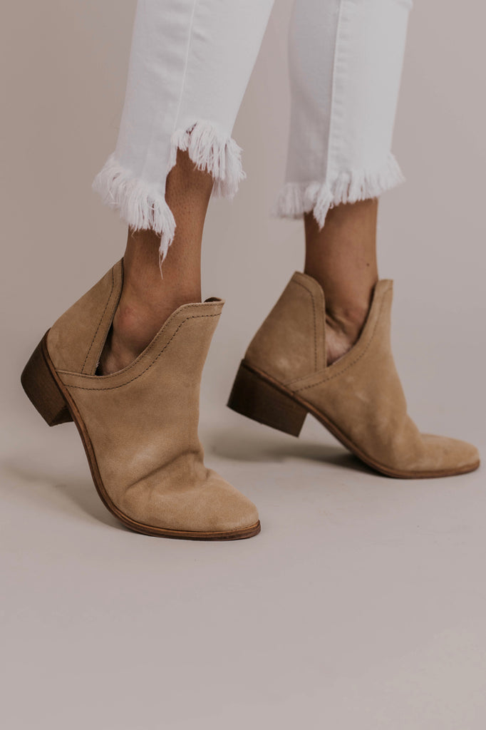 Tan Cutout Booties | ROOLEE