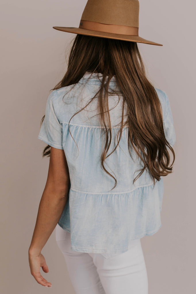 Nursing Friendly Denim Top | ROOLEE