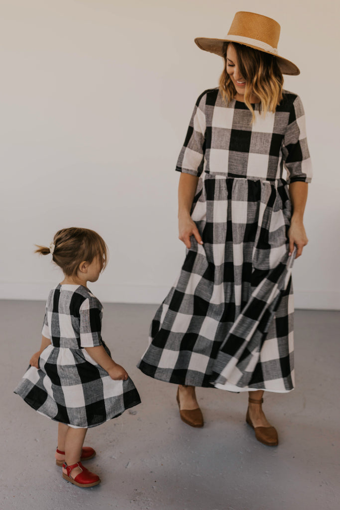 Mommy and Me Matching Plaid Dresses | ROOLEE