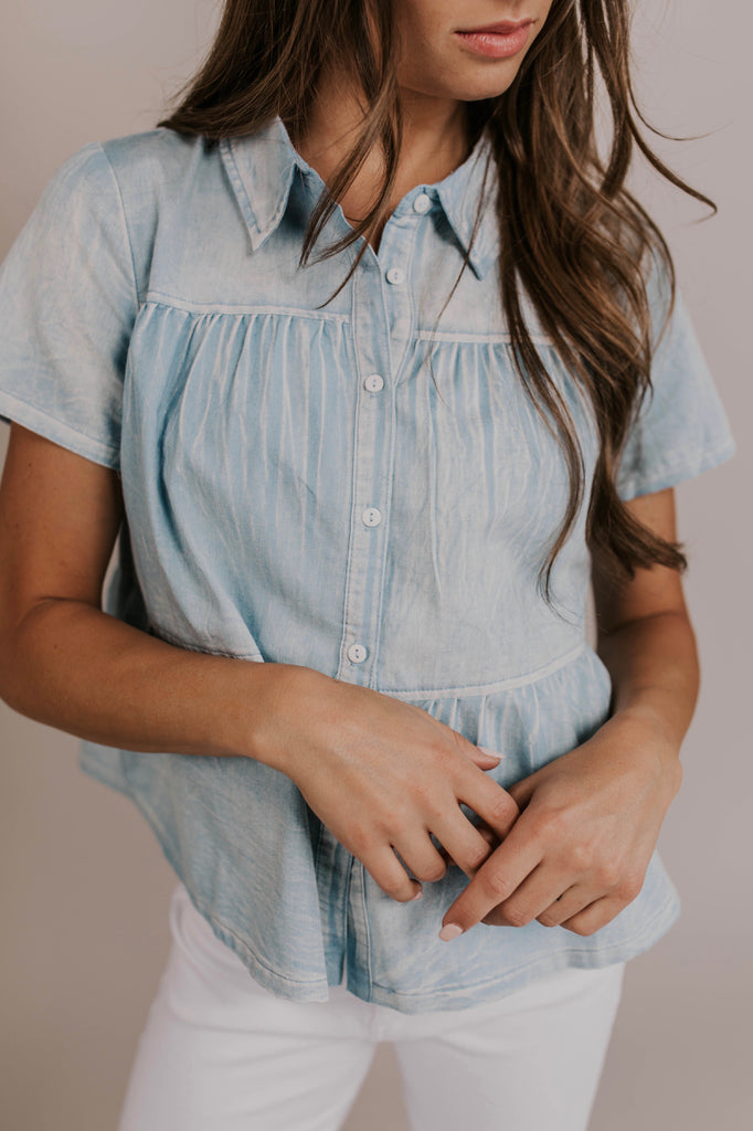 Nursing Friendly Button Up Top | ROOLEE