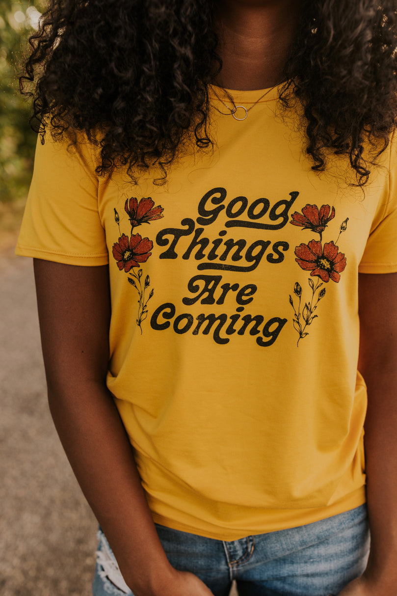 Yellow Graphic Tee | ROOLEE