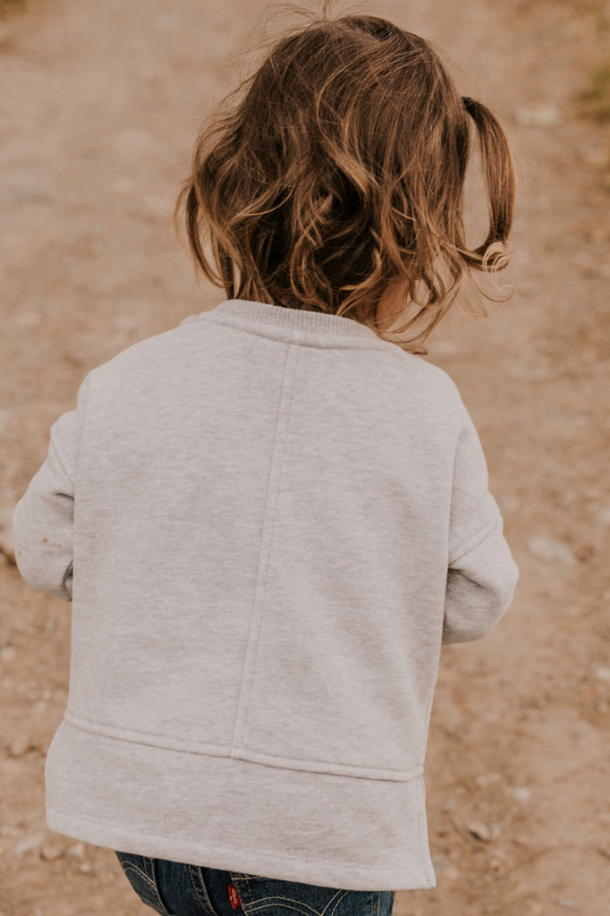 Fall Sweater for Girls in Grey | ROOLEE