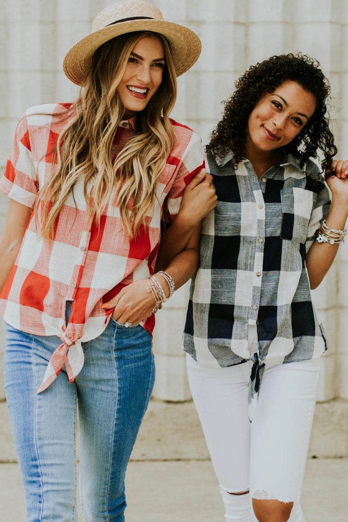 Laiken Plaid Top | ROOLEE