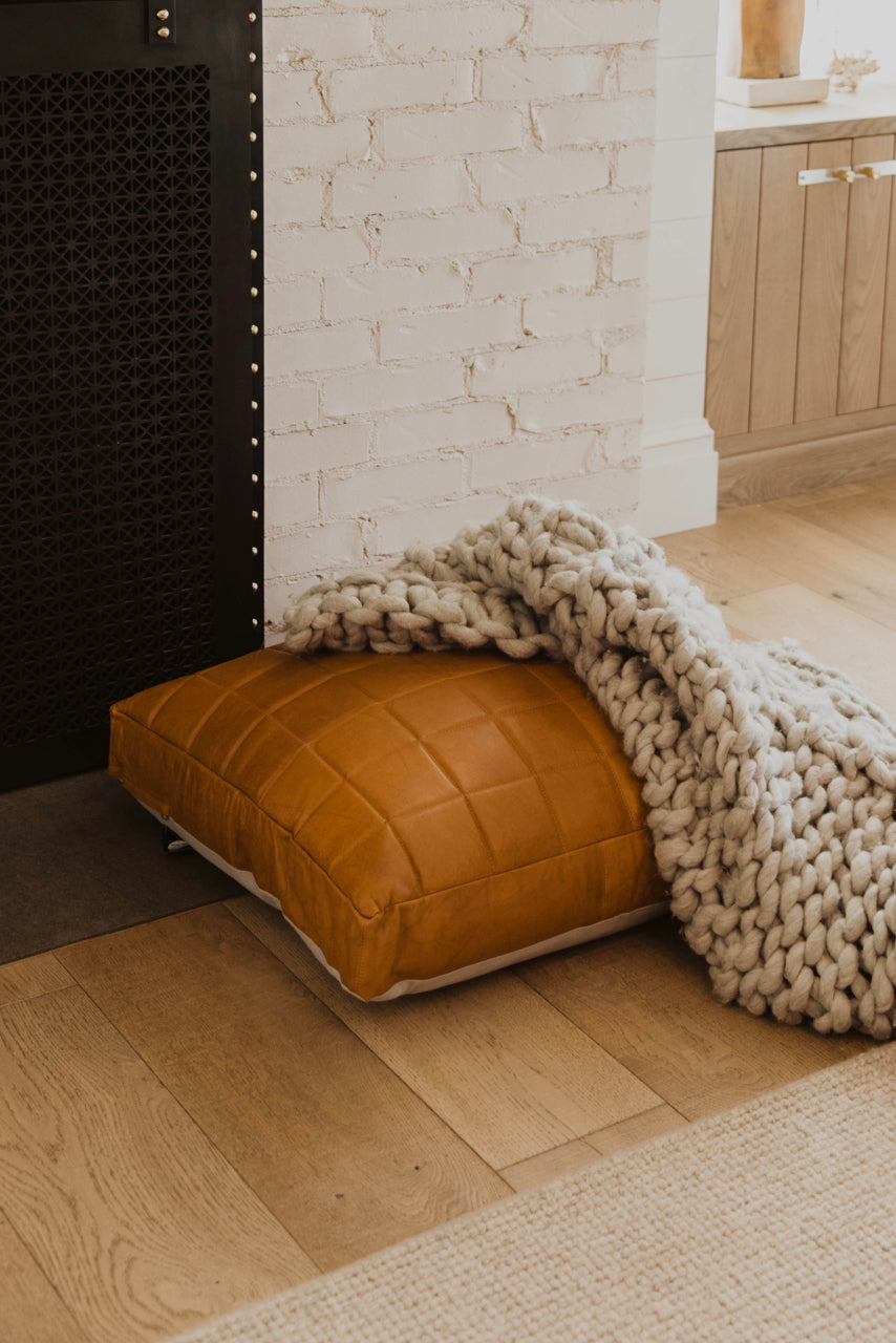 Oversized Leather Pillow | ROOLEE