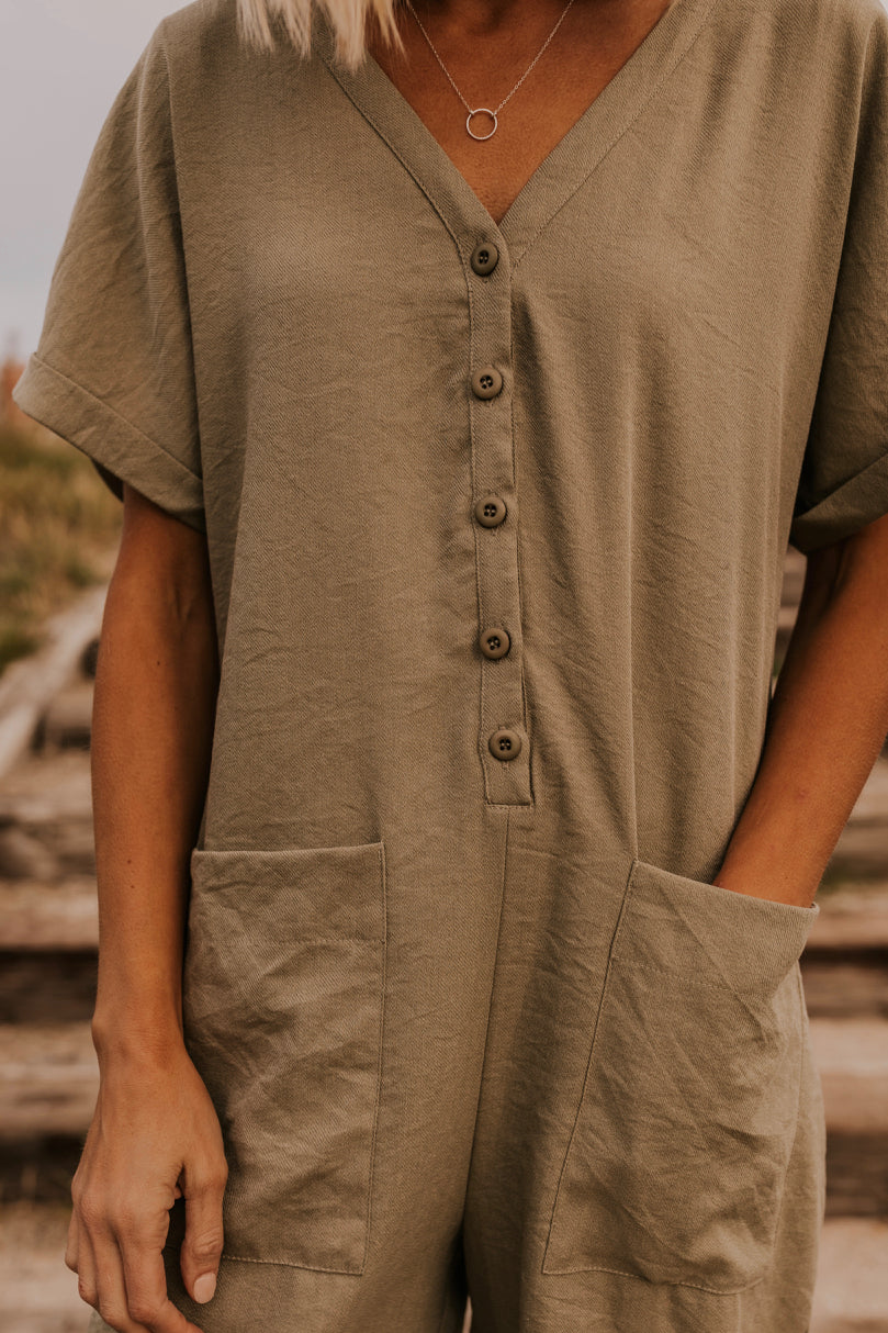Button Up Jumpsuit | ROOLEE