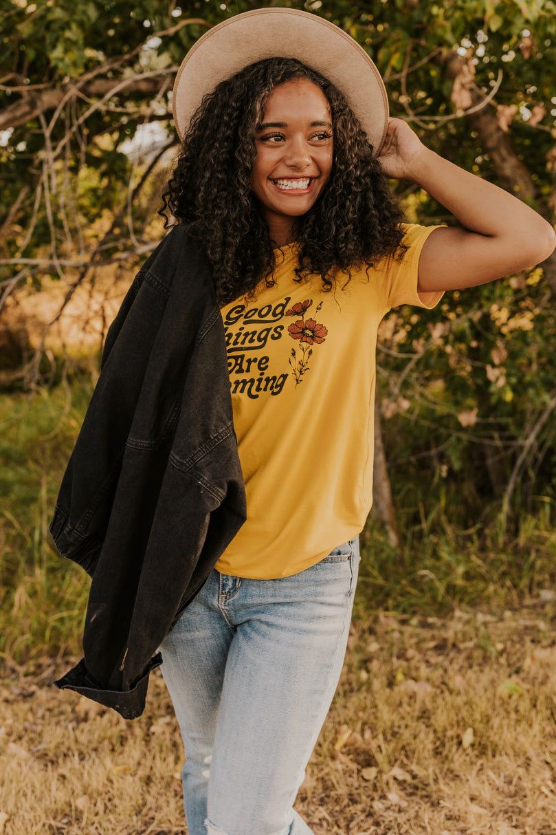 Mustard Graphic T-Shirt | ROOLEE