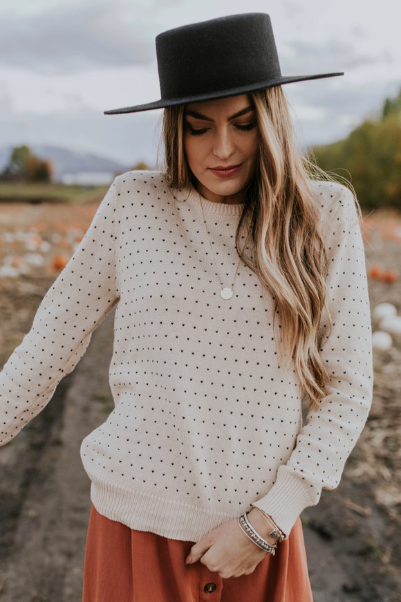 Stitched Pattern Sweater | ROOLEE