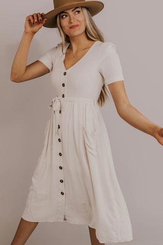 Nursing Friendly Midi Dress | ROOLEE