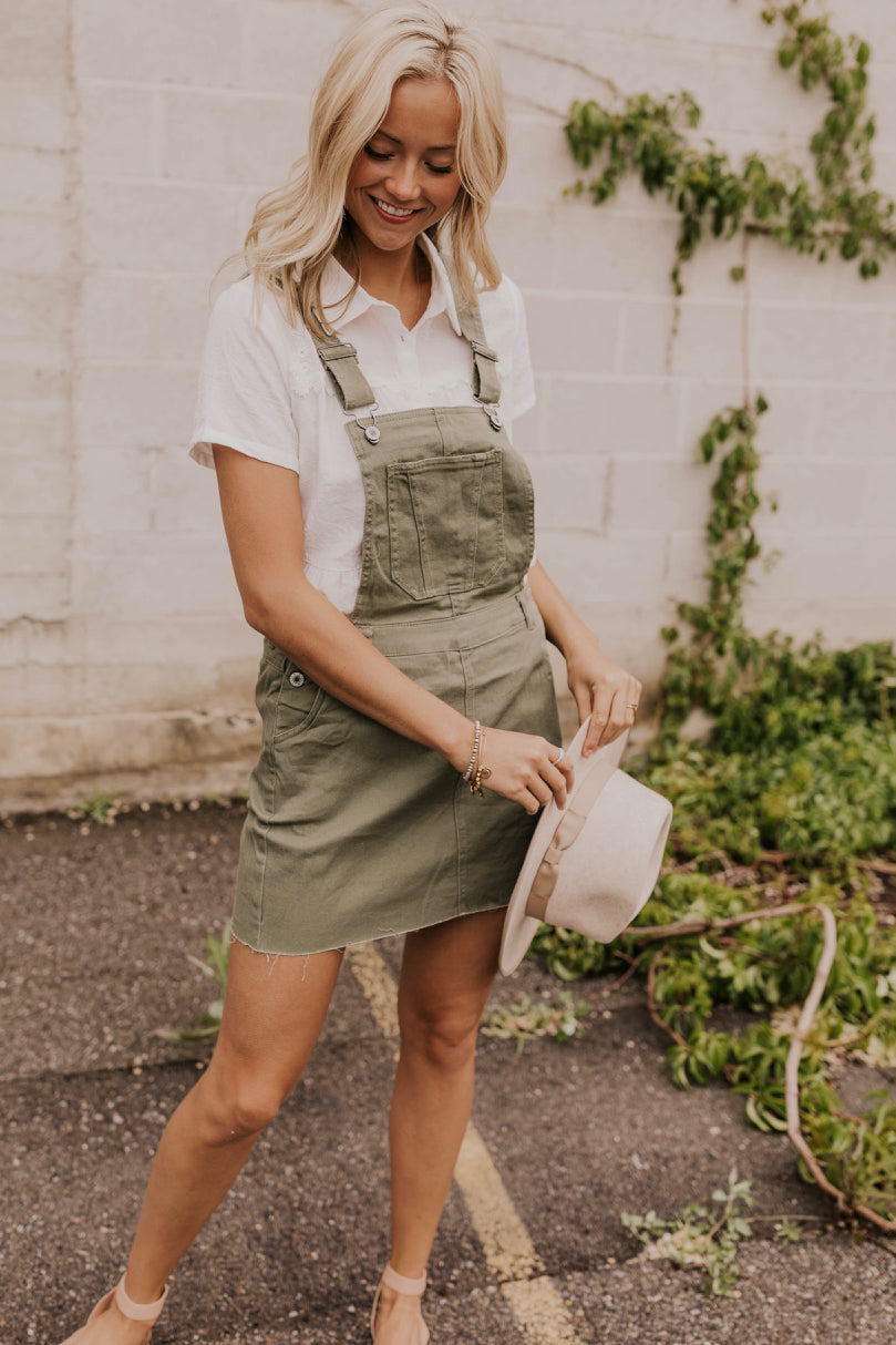 Green Overall Dress | ROOLEE