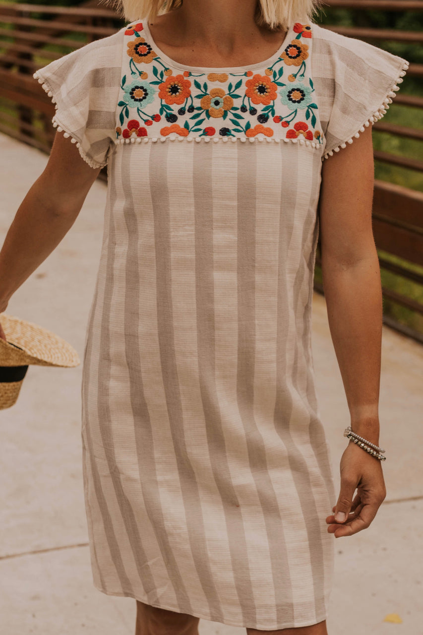 Embroidered Detail Dress | ROOLEE