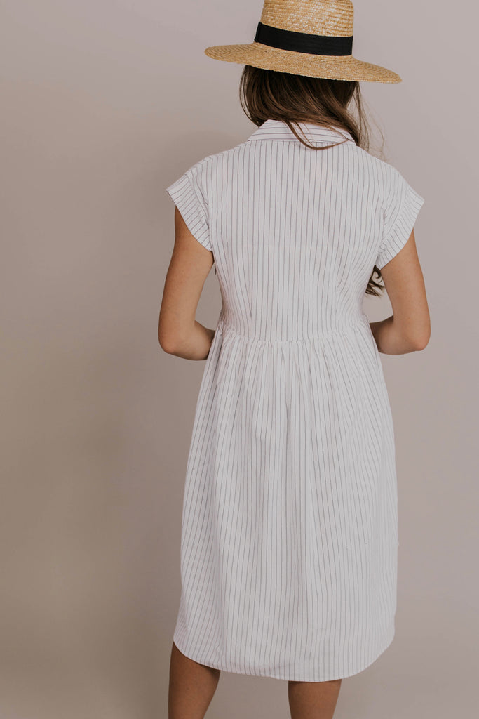 White Striped Dress | ROOLEE