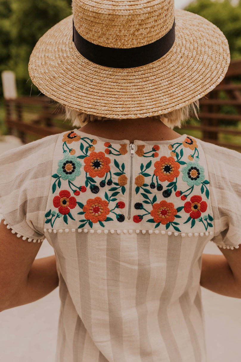 Embroidery Detail Dress | ROOLEE