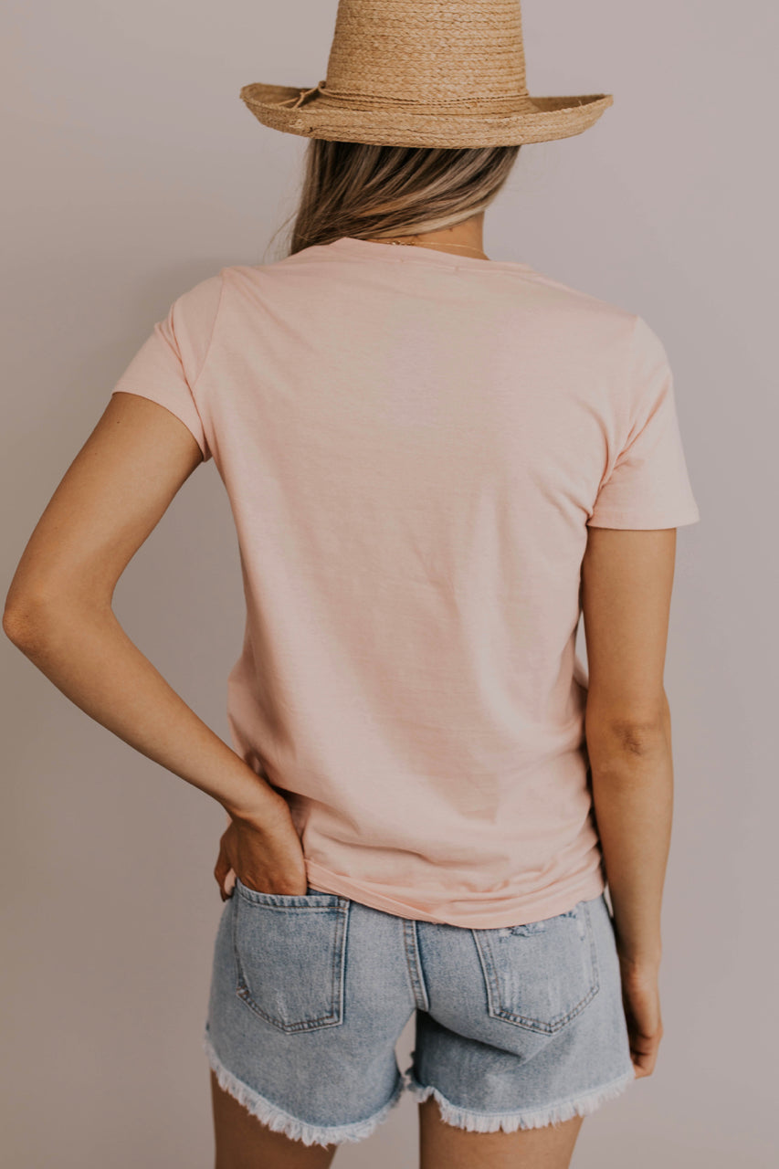 Light Pink Graphic Tee | ROOLEE