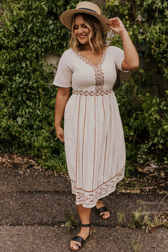 Modest Embroidered Dress | ROOLEE