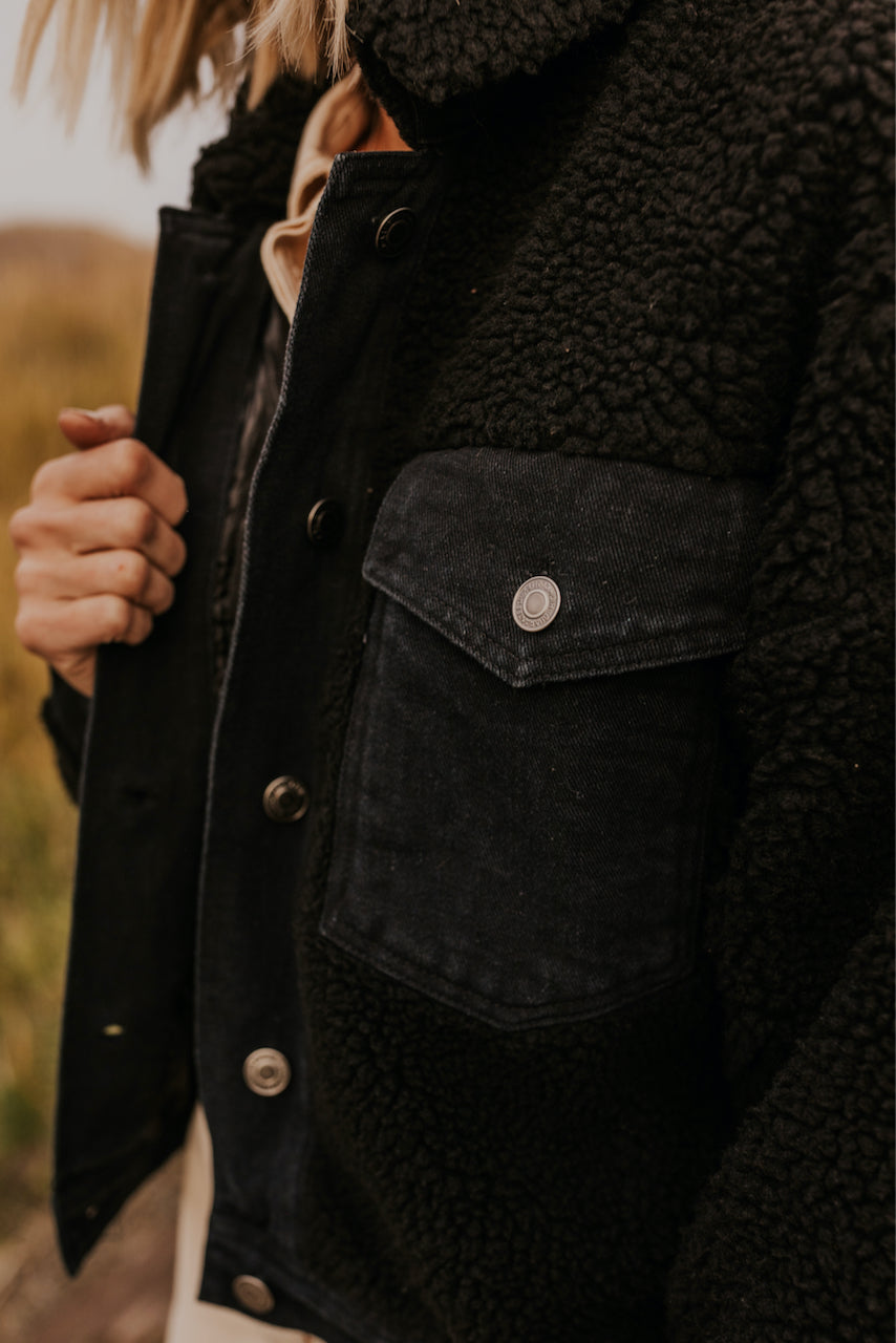 Cropped Sherpa Jacket | ROOLEE