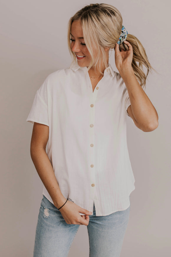 Simple Button Down Top | ROOLEE