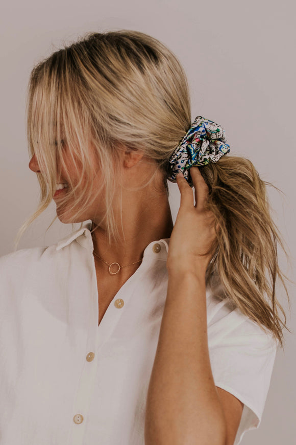 Print Hair Scrunchie | ROOLEE