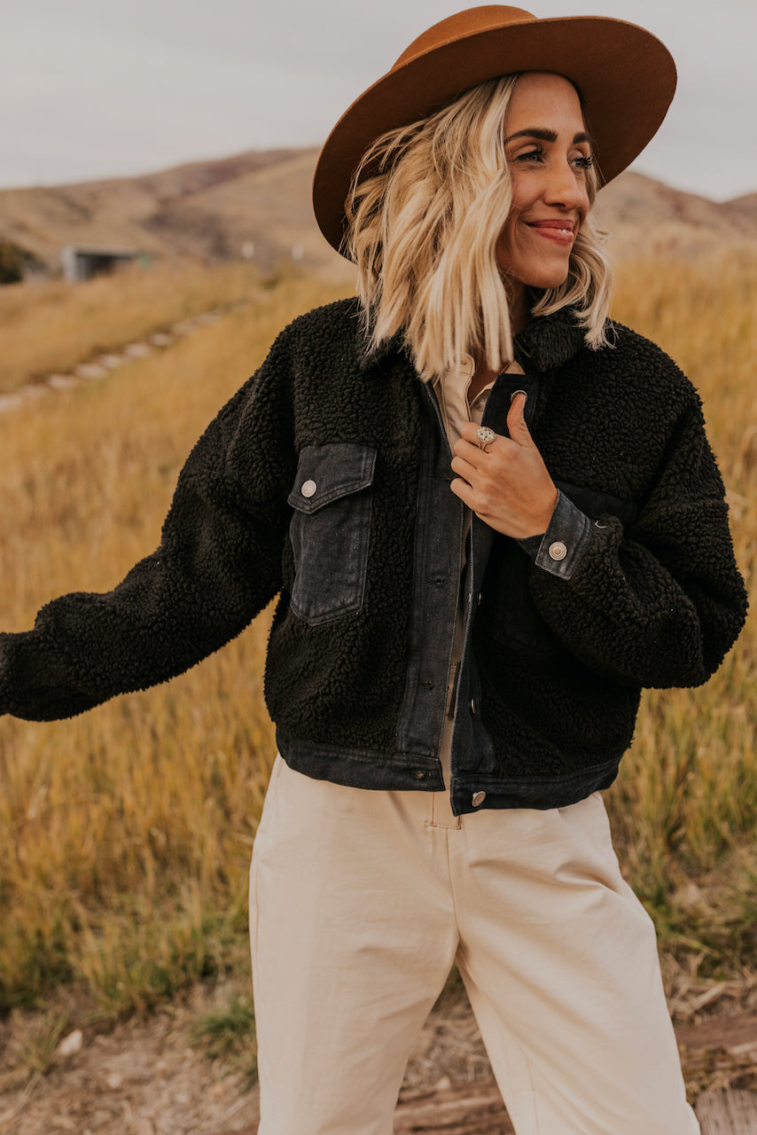Denim Jacket with Sherpa | ROOLEE