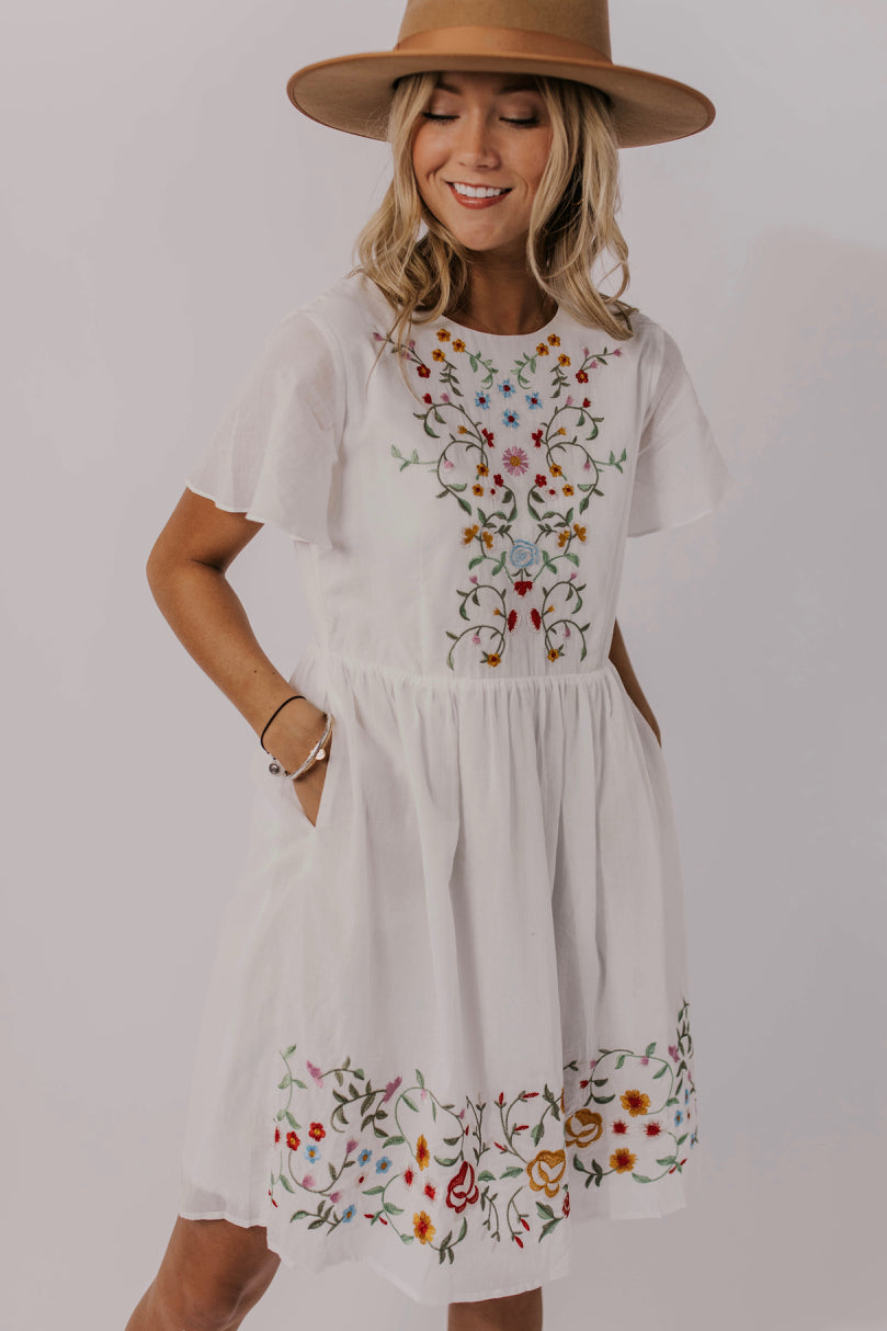 637091f6b115 Cute White Embroidered Summer Dress - Mommy and Me Dresses | ROOLEE
