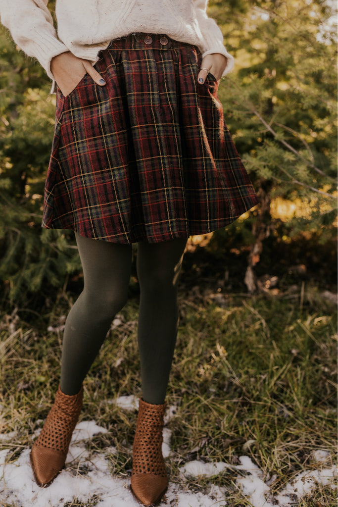 Winter Plaid Skirt | ROOLEE