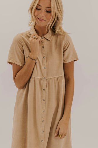 Collard Button Dress | ROOLEE