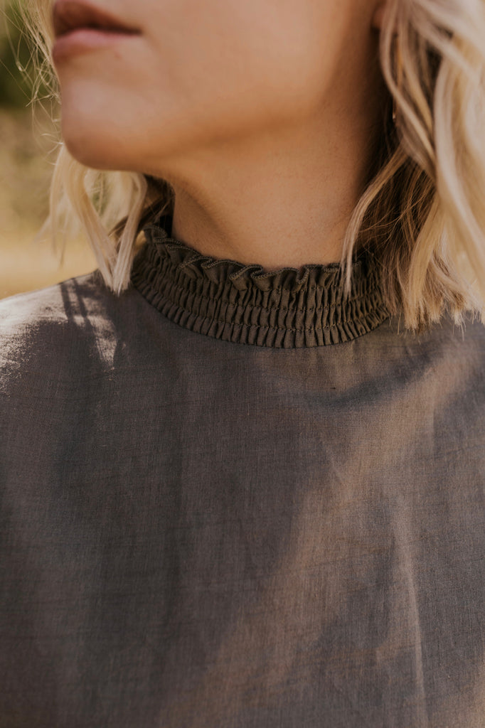 High Neck Blouse | ROOLEE