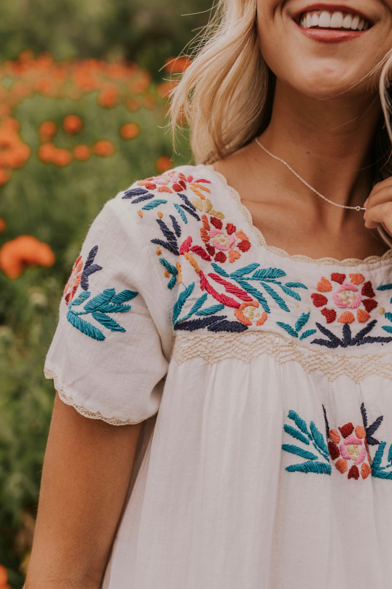 Best Floral Embroidered Dress | ROOLEE