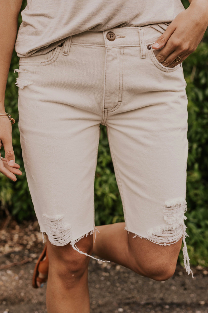 Frayed Modest Shorts | ROOLEE