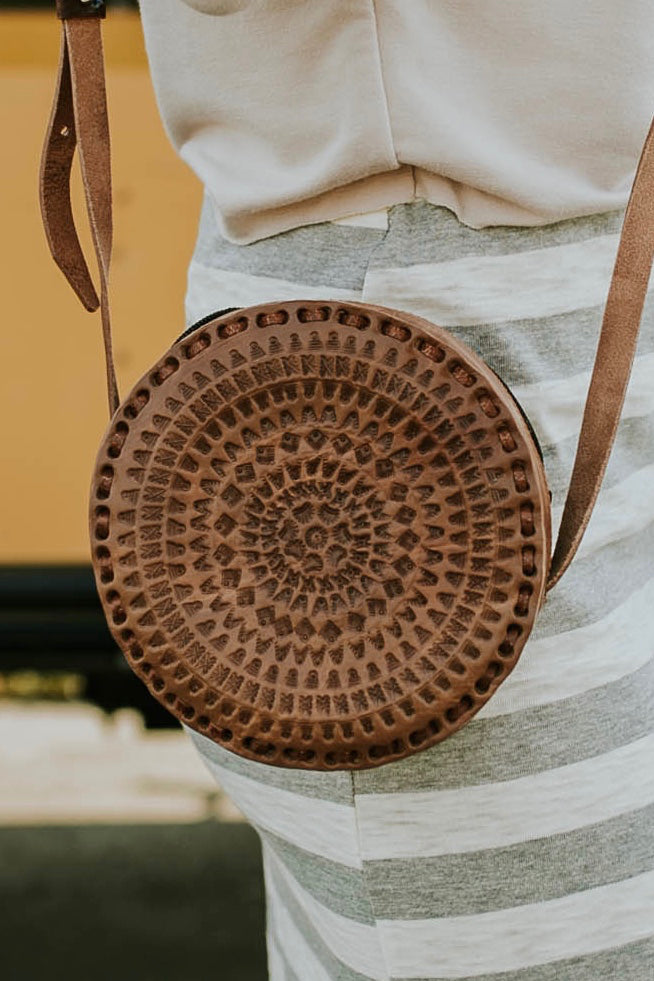 Round Leather Crossbody Purse For Women | ROOLEE Bags