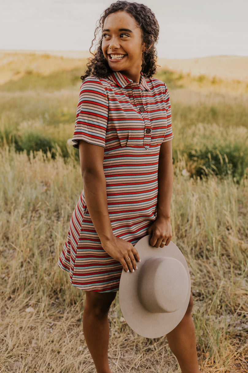 Short Stripe Dress | ROOLEE