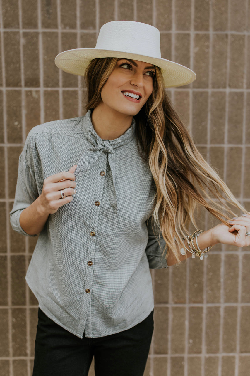 Tie-Neck Blouse Outfit | ROOLEE