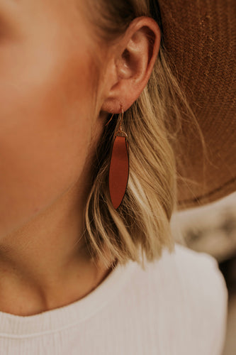 Chic Leather Fold Earrings | ROOLEE