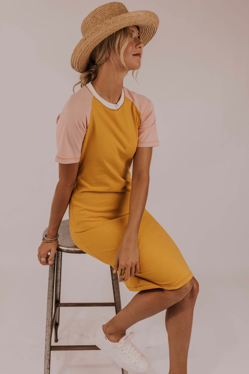 Color Block Tee Shirt Dress | ROOLEE