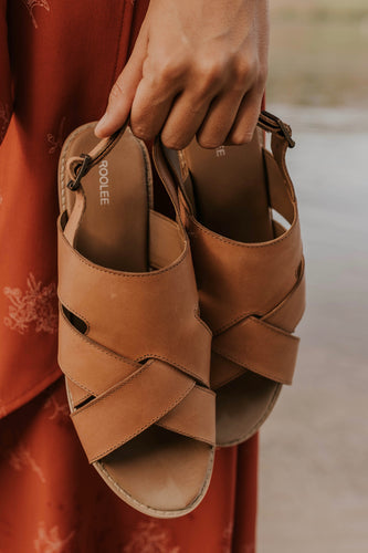 Tan Strappy Sandals | ROOLEE
