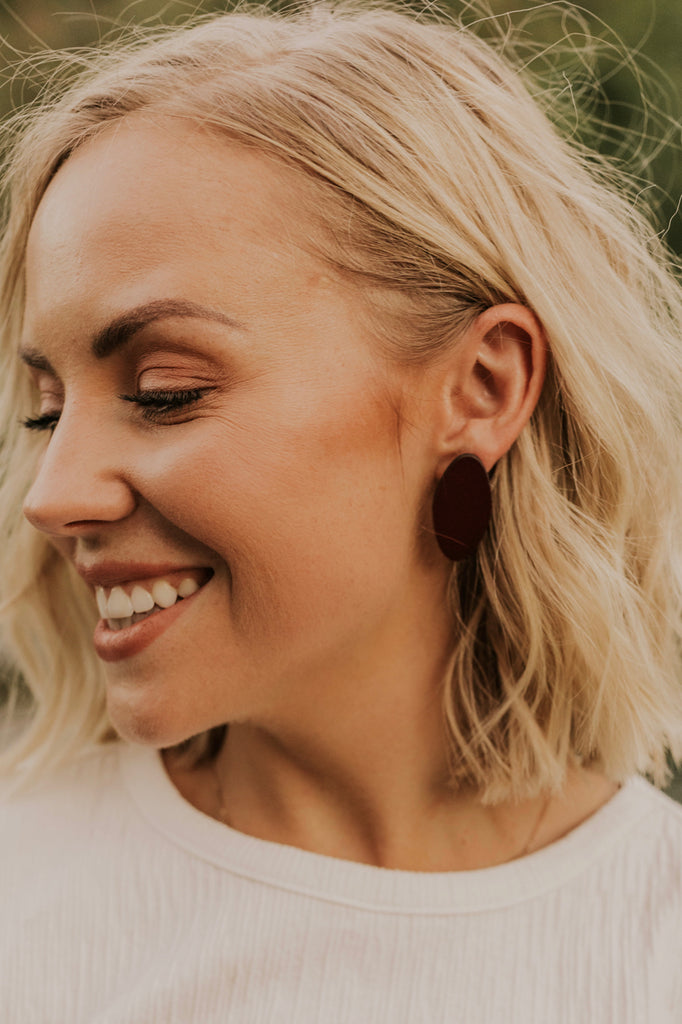 Chic Leather Earrings | ROOLEE