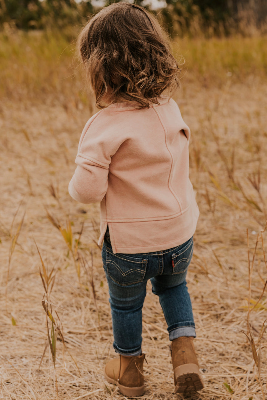Fall Sweater for Girls in Pink | ROOLEE