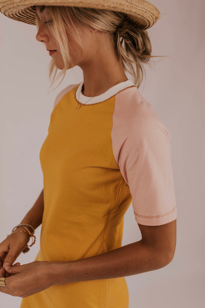 Color-block Yellow Dress | ROOLEE